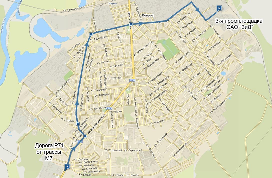 Схема проезда от трассы М7 [А]